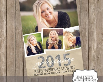 Graduation Announcement - Single Sided - Up to 4 Pictures