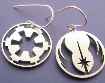 Jedi and Imperial Earrings
