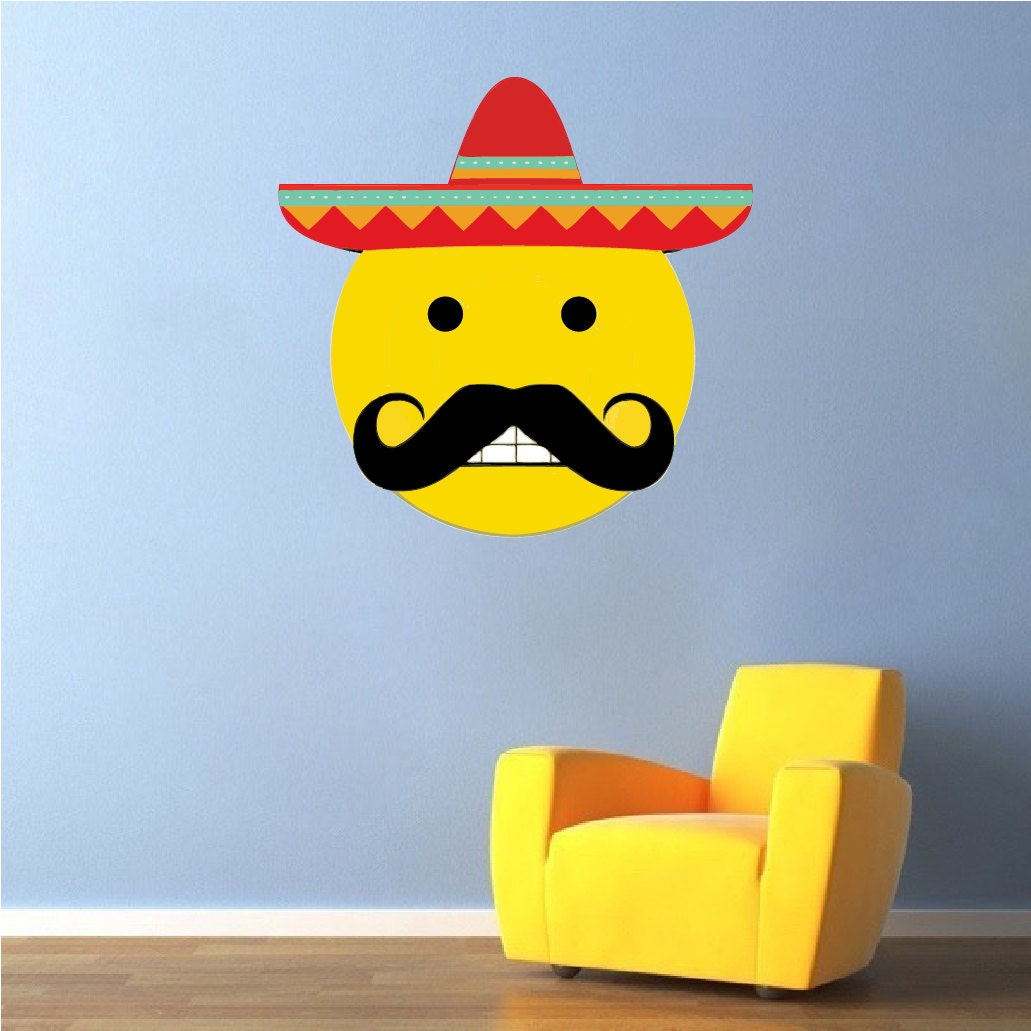 Mexican Emoji Mexican Emoji Decal Emoji Wall Design