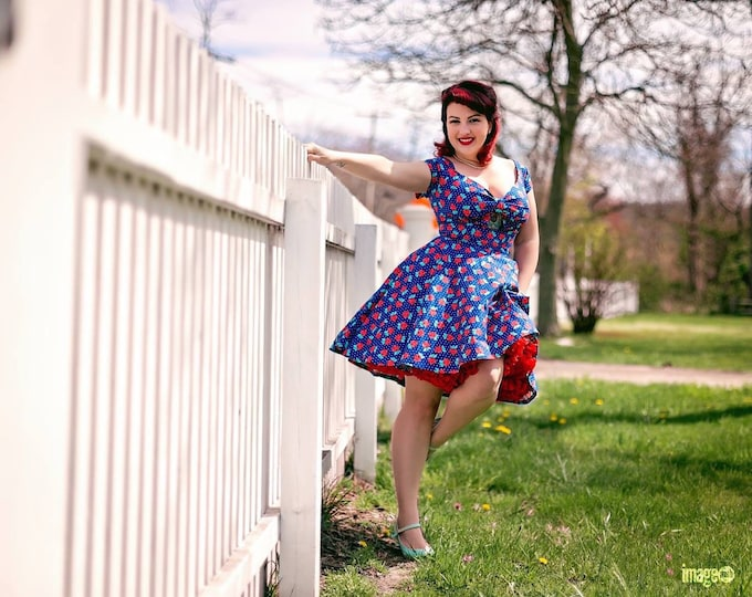 Custom for Dani...Peekaboo Keyhole Swing Dress with Straps in Pink Mouse Fabric