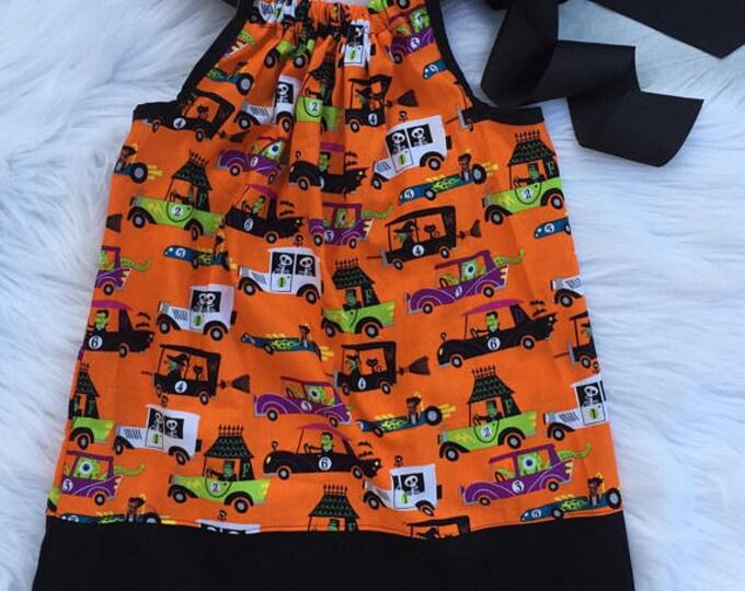 Monster Traffic Pillowcase Dress READY TO SHIP