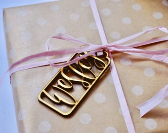 Custom Wooden Gift Tag - 3mm Baltic Birch Wood | Gift Tag | Gift Packaging | Tag | Name Tag | Christmas | Calligraphy | Hand Lettered
