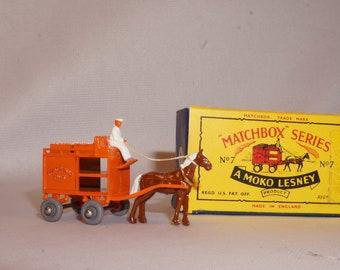 Original Lesney Matchbox No. 7 Horsedrawn Milk Float