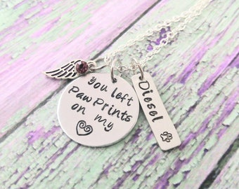 Dog Or Cat Memorial Jewelry Dog Cat Necklace Dog Or Cat Loss Pet Memorial Pet Loss Pet Remembrance