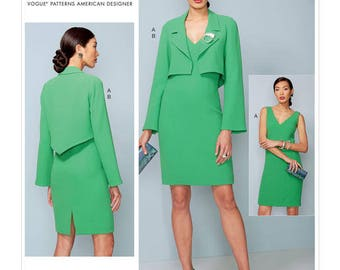V1536 Vogue suit and dress sewing pattern
