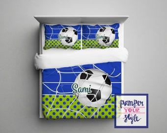 Soccer Bedding for Girls - Soccer Bedding for Boys - Bedding Soccer - Personalized Soccer Bedroom