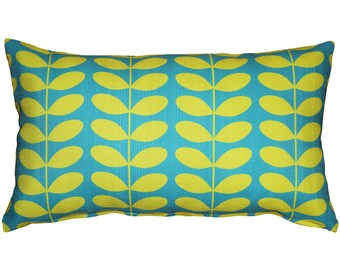 Mid-Century Modern Turquoise Throw Pillow 12x20