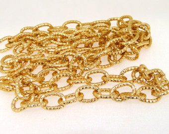 """Gold Plated Metalic Chunky Curb Chain ----- 9mmx 14mm---thickness about 2mm----38"""""""