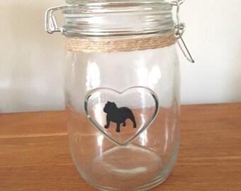 British Bulldog Medium Storage/Treats Jar