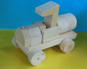 Wooden Toy Tanker Truck