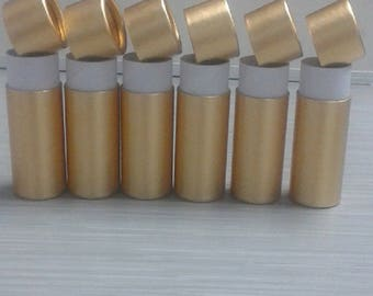 50pcs  Gold Oil Bottle Paper paper cans oil 30 ML cosmetic packaging Paper Tube  Flavor Packaging red  pink Kraft  four colores