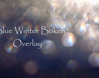 Bokeh Overlay, Overlay, Textures, Layers, Winter, Instant Download