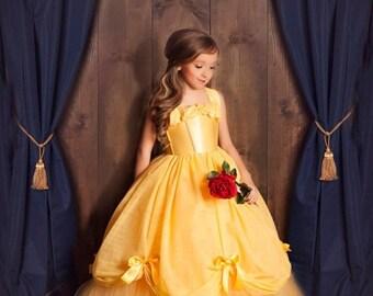 STOREWIDE SALE Belle Dress- Princess Belle Tutu Dress- Belle Costume- Beauty and the Beast