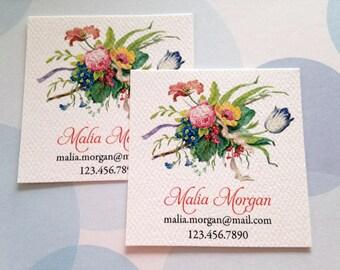 Business Card, Custom Business Card, Vintage Card - Set of 48