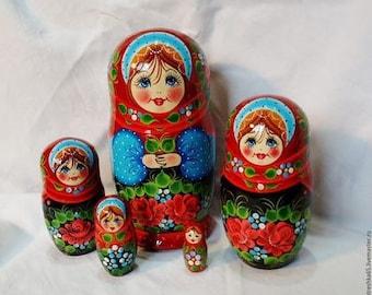 Matryoshka, wooden doll, nesting doll, babushka