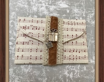 Luxury music gift card holder | 2 styles | promise pouch | DIY coupon | voucher holder | envelope | invite