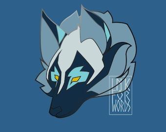 Cosmic Wolf Enamel Pin PRE-ORDER