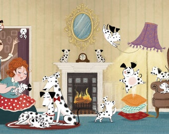 Fifteen Puppies!  Limited Edition Giclée Print