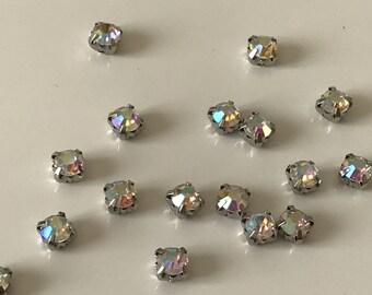 Lot 1440 rhinestone studded sew 5 mm AB Crystal