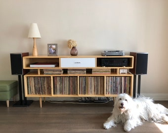 Mid Century Record Console - MADE TO ORDER 4-6 months