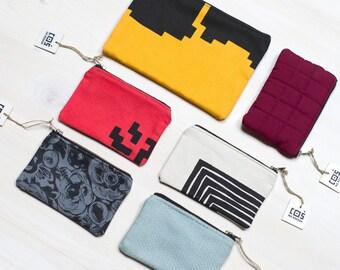 SCATTER Coin purse, Colorful zip purse, Credit card purse, Pocket size zip purse