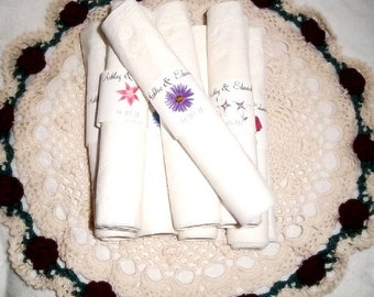 100 Lavender Daisy Wedding Napkin Ring Cuffs Wraps. Personalized Favors
