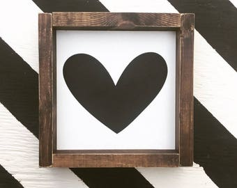 Heart Mini - Wood Sign