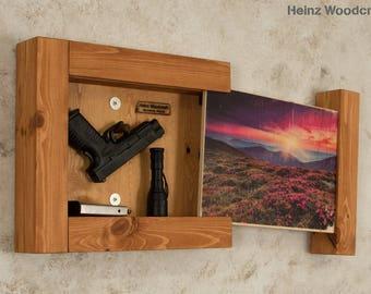 Concealed Hidden Gun Compartment Storage Pallet Wood