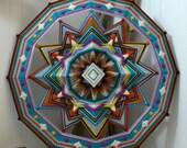 Diamond Sky, a 24 inch, wool yarn, Ojo de Dios, by custom order