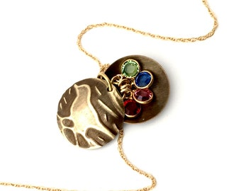 Birthstone Locket For Mom | Mothers Necklace | Mama Bird Family Tree Necklace | Mother Necklace |Personalized Mother Gift |Gift For Mom