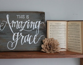 Amazing Grace Plaque