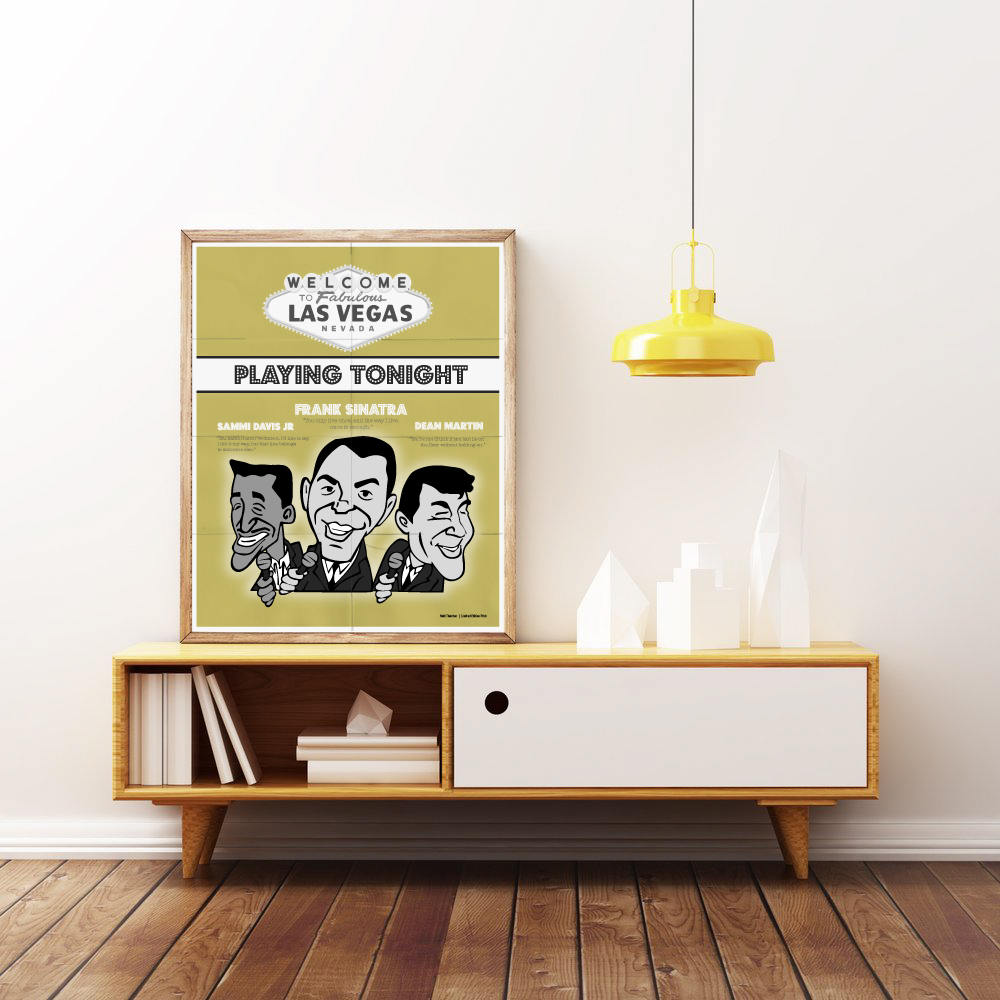 The RAT PACK Poster. Las Vegas. Frank Sinatra Dean Martin &