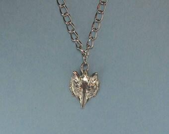 Fox Charm Necklace - Mens Fox Charm Necklace - Fox Jewelry- Mens Chain Necklace - Mens Fox Gift - Mens Fox Jewelry - Plus Size Necklace