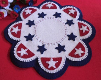 Wool Applique PATTERN - Americana Stars - CP126