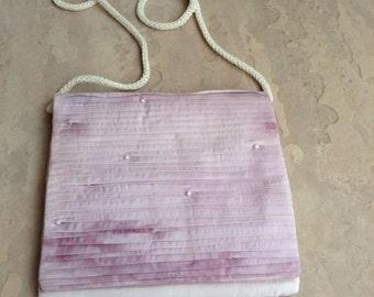 Retro/BOHO tie dye handbag with pearls