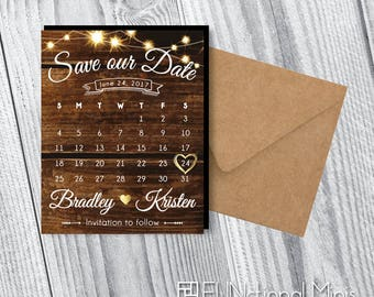 Save the Date Calendar Magnets   Wedding Save the Dates > Envelopes Included > FREE SHIPPING