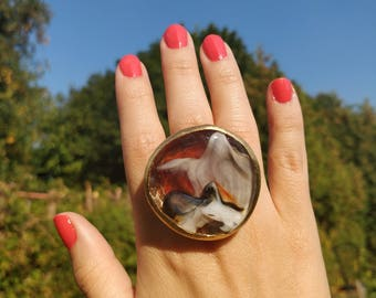 Waves Statement Ring