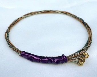 Guitar String Bangle Bracelet