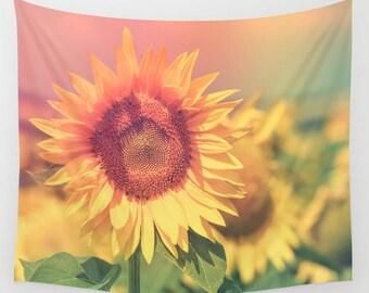 Hazy Summer Sunflower Tapestry - 3 Sizes