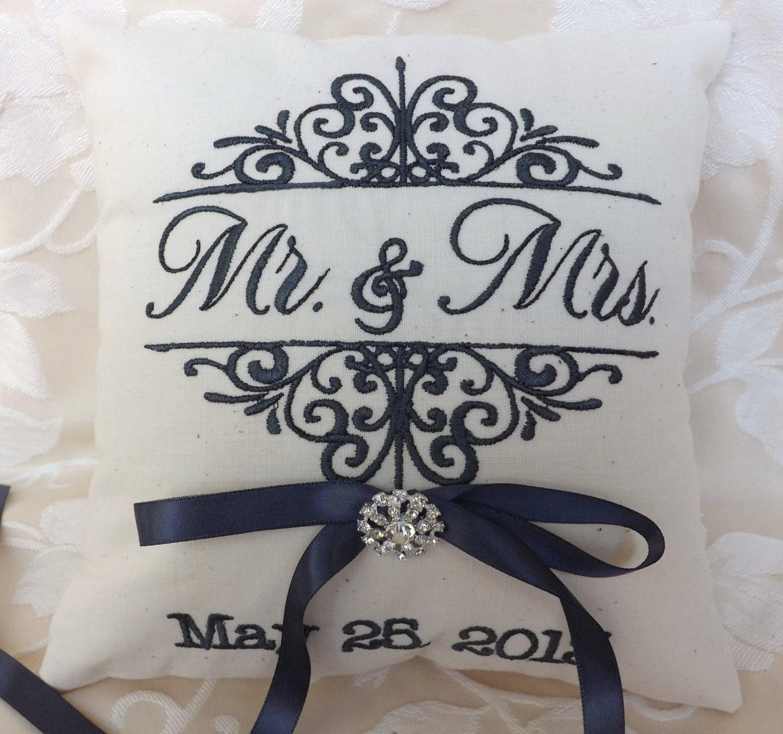 Ring bearer pillow Mr and Mrs ring bearer pillows ring