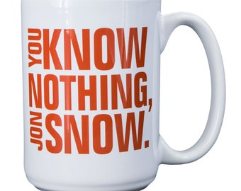 Game of Thrones Collectible Mug - You Know Nothing, Jon Snow