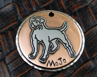 American Bulldog Custom Handmade Dog ID Tag