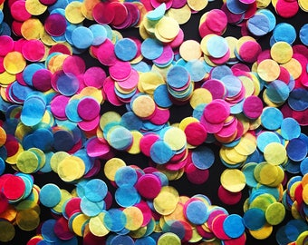 Pink, Yellow and Blue Tissue Paper Confetti