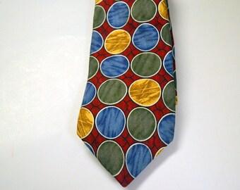 Vintage Men's Oscar de la Renta  Necktie 100% Silk