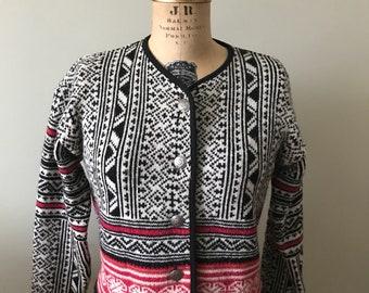 Women's Vintage / Laura Ashley Wool Cardigan Sweater