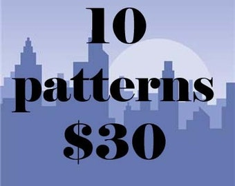 ANY 10 PDF Crochet Patterns For 30 DOLLARS