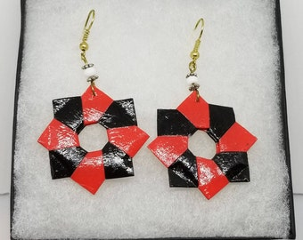 Origami Wreath Earrings