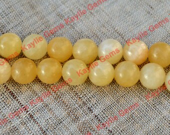 "High Quality 8mm Aragonite Semi Precious Gemstone Beads - 16"" Full strand"