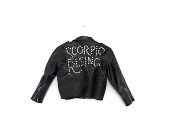 Scorpio Rising Motorcycle Jacket / XS Tiny Fit Moto Jacket / Black Leather Jacket