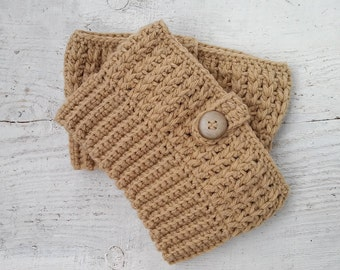 Crocheted boot cuffs Boot socks for women and girls Boot toppers for her Boot cuffs for sale beige wool boot cuffs